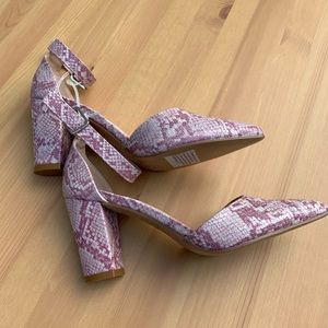 **NEW Forever Snake Skin Pointed Heels